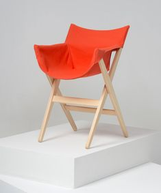 Jasper Morrison for Mattiazzi // Fionda chair // wood canvas camping chair