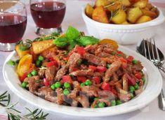 Lajos Mari konyhája - Brassói aprópecsenye Hungarian Recipes, Kung Pao Chicken, Meat Recipes, Pork, Beef, Fish, Foods, Ethnic Recipes, Beef Recipes