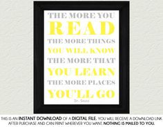 Dr Seuss The More You Read Quote  Gender by SassyGraphicsNow