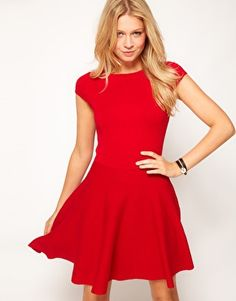 Oasis Fit & Flare Knit Dress