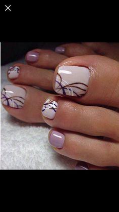 Acrylic Nail Art For More Beautiful Nails Pretty Toe Nails, Cute Toe Nails, Fancy Nails, My Nails, Pretty Toes, Gel Toe Nails, Pretty Pedicures, Gel Toes, Toe Nail Color
