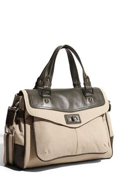Nordstrom | Halogen® Canvas & Leather Satchel - StyleSays