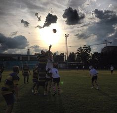 I shot this pic following my rugby team while my leg Was still injured, and i cannot play with my friend struggling for the victory