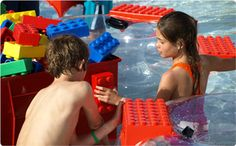 This is at Legoland water park. You could build on the sides of your raft! It is FUN!!!