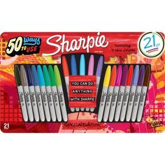 Sharpie Permanent Markers Limited Edition 21ct Value Pack - Walmart.com
