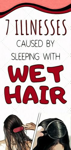 7 ILLNESSES CAUSED BY SLEEPING WITH WET HAIR Health And Wellness Quotes, Health And Fitness Articles, Health Tips For Women, Health And Wellbeing, Natural Remedies For Migraines, Natural Health Remedies, Fitness Workout For Women, Fitness App, Sleeping With Wet Hair