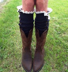 Womens Button Down Charcoal Legwarmers Womens Boot by uptowngirlco
