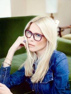 Claudia Schiffer-celebrity hair-celebrity hairstyles-celebrity hair cuts-celebrity hair hair color- blonde- middle part- casual- glasses Lauren Hutton, Claudia Schiffer, Toni Garrn, Blonde Haircuts, Wearing Glasses, Chanel Cruise, Sunglasses Outlet, Poppy Delevingne, Girls With Glasses