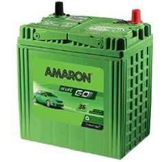 With high heat tolerance, vibration resistance and highest reserve capacity, Amaron Go batteries are perfect for Indian cars. The high cranking power helps your car in starting in even extreme weather conditions. Amaron Go batteries require zero maintenance and no top-ups. Premium silver alloys (SILVEN X) ensure low-corrosion. These batteries come factory charged and are ready to use.