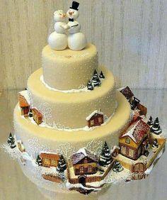 gorgeous winter wonderland cake