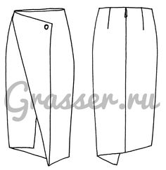 Выкройка юбки, модель №299, магазин выкроек grasser.ru