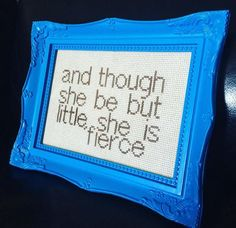Cross Stitch Pattern Quote Shapespeare And by InStitchesBristol