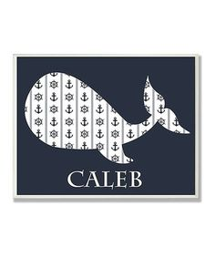 Look what I found on #zulily! Blue Whale & Anchors Personalized Wall Plaque #zulilyfinds