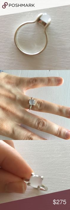 a2949a4f4 Paloma Picasso Sugar Stack ring Sterling silver, milky quartz. Size 6. Only  had