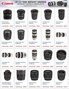 New Canon rebates