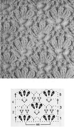 Crochet Motifs, Crochet Diagram, Crochet Stitches Patterns, Crochet Chart, Crochet Quilt, Crochet Lace, Free Crochet, Stitch Patterns, Knitting Patterns