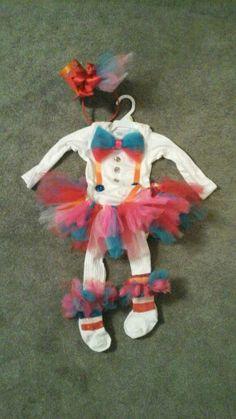 Diy infant girls clown costume