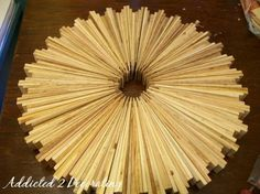 Make a sunburst mirror out of wood shims