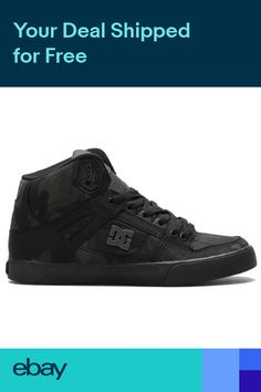 pretty nice 91a4a 53680 DC Pure High Top WC TX SE Mens Hi Top Skate Shoes Trainers Size 7-