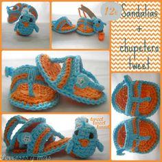 Sandalias + chupetero tweet de #perrosos y mas  Shoes + Pacifier clip