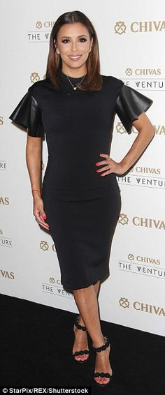 Very flattering: The youthful-looking star donned a black bodycon dress which showed off h...