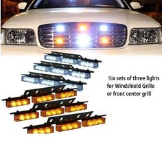 57.00$  Buy now - http://alizn1.worldwells.pw/go.php?t=32366575666 - Red Blue White Green Amber 6x9 54LED Strobe Flash Warning Light Emergency Hazard Lamp Car Truck SUV Bumper Grille 57.00$