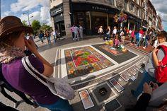 Street artist. Dublin. Ireland