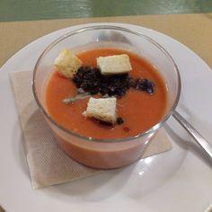 Salmorejo en el menú degustación del restaurante @PetitComite_Zaragoza (Hernando de Aragon 1)
