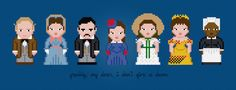 Gone with the Wind Characters - Digital PDF Cross Stitch Pattern