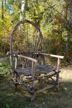 How to make bent willow furniture