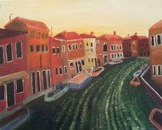 Huile sur toile, Venise 100x80cm