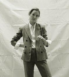 Vicky Krieps, Double Breasted Suit, Suit Jacket, Suits, Jackets, Fashion, Down Jackets, Moda, Fashion Styles