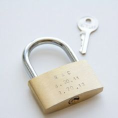 Celebrate your anniversary or any special day by putting your love on lock.