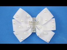 Passo a passo: Laço de fita para Batizado e Primeira Comunhão /DIY ribbon bow - YouTube