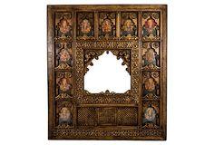 "Jharokha Front  Delhi, India -  1980's  Indo-Islamic  94""L x 4""W x 84.25""H  ($3,740.00)  $2,315.00  OneKingsLane.com mirror mirror, decor piec, boho ago, jharokha front, orient window"