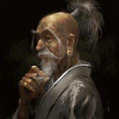 m Wizard portrait Old sage