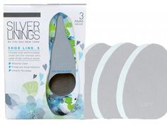 Silver Linings shoe liners are designed specifically for women who wear shoes without socks. Silver...