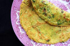 Sorghum flour savoury spiced pancake