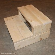Super Simple Kid's DIY 2x4 Wooden Step Stool