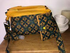 Triple pochette ChaChaCha et portefeuille Compère en jaune et noir cousus par Laetitia - Patrons Sacôtin