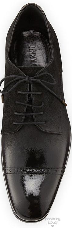 Jimmy Choo Prescott Cap-Toe Lace-Up Shoe | LOLO❤