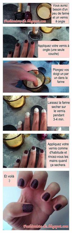 Fashionista DZ : #DIY: Vernis à ongle Sugar mat #Nail #SugarMat