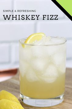 Get the recipe for the whiskey fizz, a classic cocktail with perfectly blended f. - Get the recipe for the whiskey fizz, a classic cocktail with perfectly blended flavors - Easy Cocktails, Classic Cocktails, Fun Drinks, Cocktail Recipes, Drink Recipes, Beverages, Whiskey Drinks, Scotch Whiskey, Health