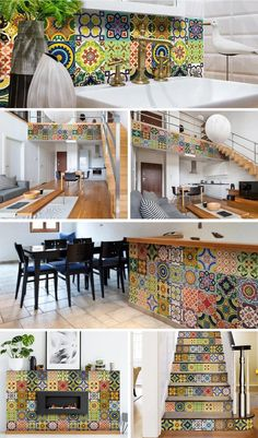 Stunning and colorful set of 24 removable high-quality vinyl tile stickers #stickers #tilestickers #walltilestickers #homedecor #roomdecor #hometilestickers #decortivetilestickers #kitchentilestickers #bathroomtilestickers #stairtilestickers #kitchendecor Ultimate solution for budget-savvy design enthusiasts looking to add a personalized and colorful touch to their space. The stickers are so easy to apply and remove! House Tiles, Wall Tiles, Kitchen Tile, Kitchen Decor, Bathroom Tile Stickers, Decorative Tile, Budget, Room Decor, Touch