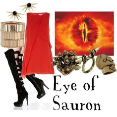 """Lord of the Rings/ The Hobbit-  """"Eye of Sauron"""" by companionclothes on Polyvore"""