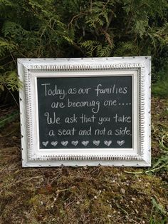 Framed Chalkboard, Vintage Upcycled Framed Chalkboard, Wedding Decor, Rustic Wedding Chalkboard, Distressed Chalkboard