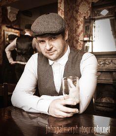 #peakyblinders #tweed #flatcap #pub #beer #waistcoat #birmingham #vintage #pint