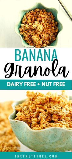I LOVE the flavor of this banana granola! It's easy to make with simple ingredients, and it has that perfect crunch that I love. A simple gluten free breakfast option.
