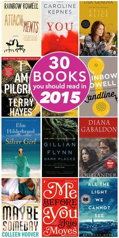 I love book lists. 30 Books You Should Read in 2015