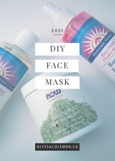easy diy face mask for glowing skin do it yourself make it at home! using castor oil, rosewater, and clay